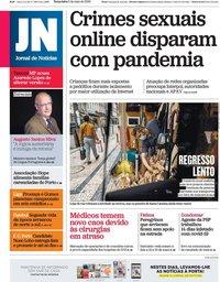 capa Jornal de Notícias de 5 maio 2020