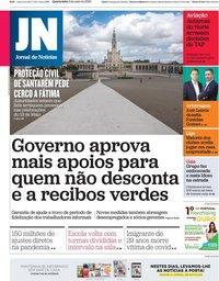 capa Jornal de Notícias de 6 maio 2020