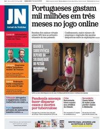 capa Jornal de Notícias de 7 maio 2020