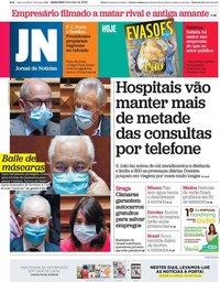 capa Jornal de Notícias de 8 maio 2020