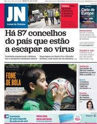 capa Jornal de Notícias de 9 maio 2020