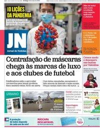 capa Jornal de Notícias de 10 maio 2020