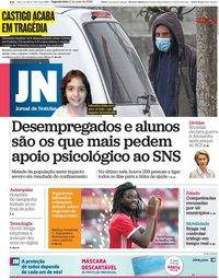 capa Jornal de Notícias de 11 maio 2020