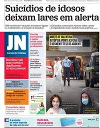 capa Jornal de Notícias de 12 maio 2020