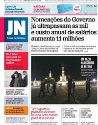 capa Jornal de Notícias de 13 maio 2020