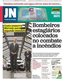 capa Jornal de Notícias de 14 maio 2020