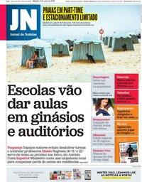 capa Jornal de Notícias de 16 maio 2020