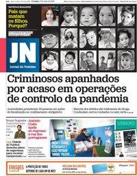 capa Jornal de Notícias de 17 maio 2020