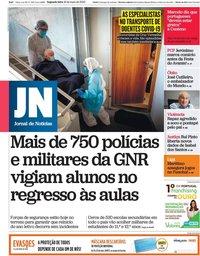 capa Jornal de Notícias de 18 maio 2020
