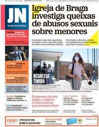 capa Jornal de Notícias de 19 maio 2020