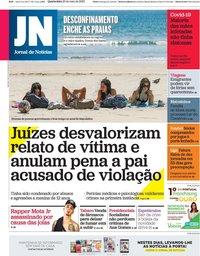 capa Jornal de Notícias de 20 maio 2020