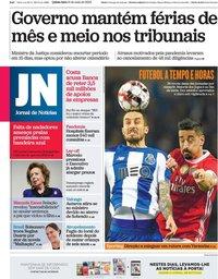 capa Jornal de Notícias de 21 maio 2020