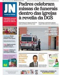 capa Jornal de Notícias de 22 maio 2020