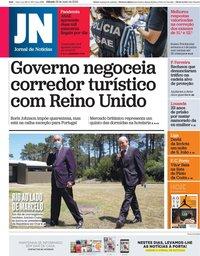 capa Jornal de Notícias de 23 maio 2020