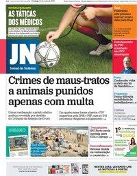 capa Jornal de Notícias de 24 maio 2020