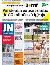 capa Jornal de Notícias de 29 maio 2020