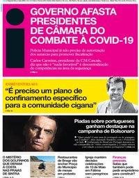 capa Jornal i de 4 maio 2020