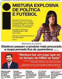 capa Jornal i de 5 maio 2020
