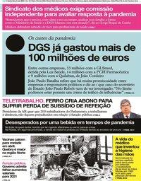 capa Jornal i de 6 maio 2020