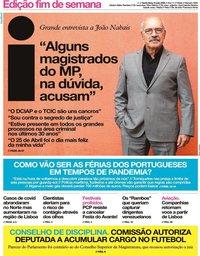 capa Jornal i de 8 maio 2020
