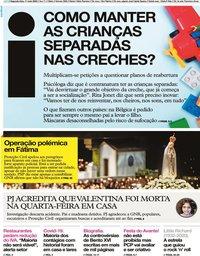 capa Jornal i de 11 maio 2020