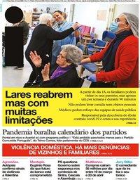capa Jornal i de 12 maio 2020