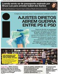 capa Jornal i de 13 maio 2020