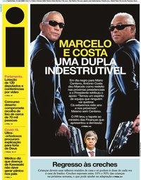 capa Jornal i de 14 maio 2020
