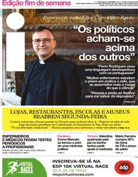 capa Jornal i de 15 maio 2020