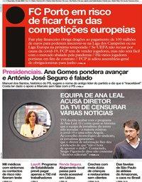 capa Jornal i de 19 maio 2020