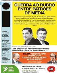capa Jornal i de 20 maio 2020