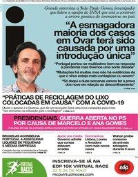 capa Jornal i de 21 maio 2020