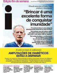 capa Jornal i de 22 maio 2020