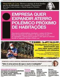 capa Jornal i de 25 maio 2020