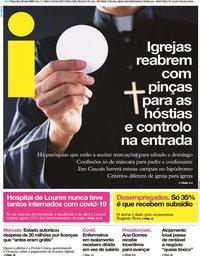 capa Jornal i de 26 maio 2020