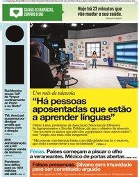 capa Jornal i de 27 maio 2020
