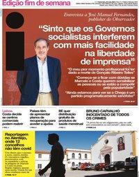 capa Jornal i de 29 maio 2020