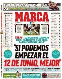 capa Jornal Marca de 11 maio 2020