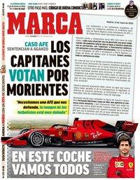 capa Jornal Marca de 15 maio 2020