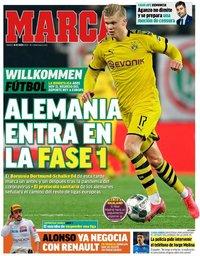 capa Jornal Marca de 16 maio 2020