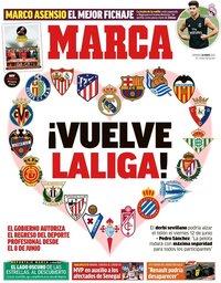 capa Jornal Marca de 24 maio 2020