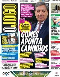 capa Jornal O Jogo de 4 maio 2020