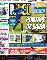 capa Jornal O Jogo de 5 maio 2020