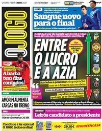 capa Jornal O Jogo de 6 maio 2020