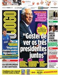 capa Jornal O Jogo de 9 maio 2020