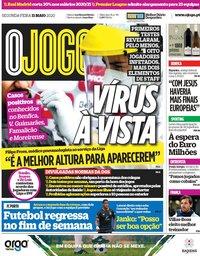 capa Jornal O Jogo de 11 maio 2020