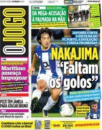 capa Jornal O Jogo de 15 maio 2020