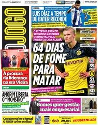 capa Jornal O Jogo de 16 maio 2020