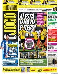 capa Jornal O Jogo de 17 maio 2020