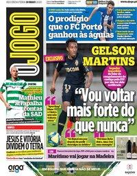 capa Jornal O Jogo de 18 maio 2020